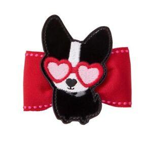 Gymboree Cozy Valentine Barrette Clip Snap NWT Animal Dog Love Heart Glasses Bow