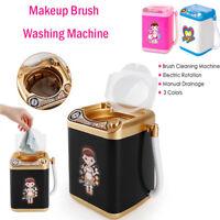 Hot Mini Electric Washing Machine Dollhouse Toy Very Useful Wash Makeup Brushes