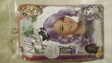 HALLOWEEN WIG Child Ever After High Kitty Chesire Lng Purple Curl Hair+Headpiece
