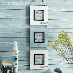 Triple Hanging Nautical Photo Frame with Fish