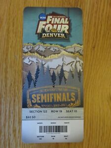 2012 NCAA Final Four Semifinals Women's Ticket S9 BAYLOR BEARS National Champs