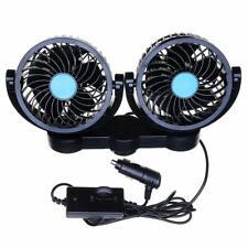 Zone Tech 12V Dual Head Car Cooling Oscillating Back Seat Ventilation Air Fan