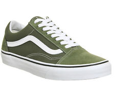 Mens Vans Old Skool Trainers WINTER MOSS WHITE BMX SKATE Trainers Shoes UK 8.5