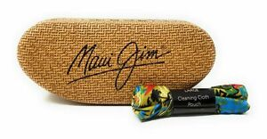 Maui Jim Sunglasses Large Clam Shell Hard Case with Cleaning Cloth/Bag, NEW