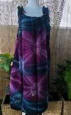 Plus Size Purple Tie Dye Maxi Dress Adjustable On the Shoulders Size 16-18-20-22
