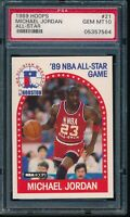 PSA 10 MICHAEL JORDAN 1989-1990 Hoops #21 All-Star Chicago Bulls GOAT GEM MINT