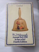Goebel M.J.Hummel Annual Bell 1981 In Bas-Relief Fourth Edition