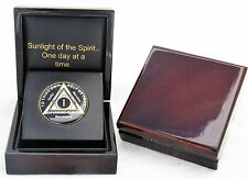 12 Step Recovery Coin Presentation-Display Box