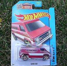 RED 1974 Super Van. HW Fire Chief. HW City ~ 2015. CFH75. New in Blister Pack!