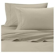Wamsutta 350 Thread Count Cool Touch Percale Taupe Twin Flat Sheet