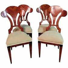 4 Chairs IN Viennese Biedermeier Style Mahogany New Covered
