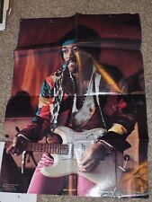 "Original Jimi Hendrix 1977 Graphic West Poster #412 measures 34"" x 23"""