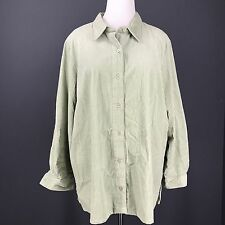 Wide Wale Corduroy Jacket XXL Green Pale Sage BLAIR Big Shirt Jacket