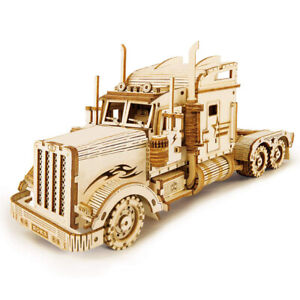 Wooden Mechanical Model 3D Wood DIY Truck Toy Puzzle Model Birthday Gift ONY
