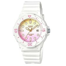 Lrw-200h-4e2 White Pink Casio Ladies Watches 100m Date Display Analog