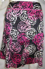 WILLI SMITH Womens A Line Black, Pink & Cream Skirt - Size 8