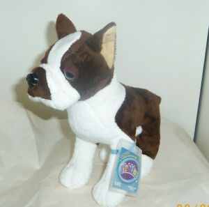 Boston Terrier size 9in Webkinz brown &  white dog new sealed unused code HM722