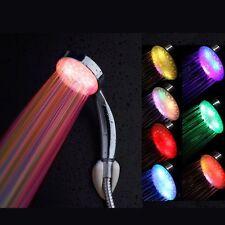 Alcachofa Ducha a Mano Colgante ABS Color Plata 8 LED Luz Bano