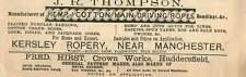 1877 Jr Thompson Driving Ropes Kersley Ropery Ad