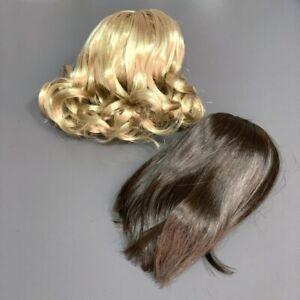 """/""""Caramel Dream/"""" American Girl Doll Custom Wig Braided Blonde Brunette"""