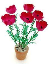 FLOWER KIT 'Giant RED POPPIES' miniature garden Dolls house12th FREE UK P&P