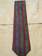 Mulberry Red, White, and Black Silk Men's Tie- NWOT