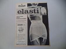 advertising Pubblicità 1961 GUAINA TRIUMPH ELASTI VL