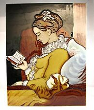 """Classic Ceramic Art Tile """"A Time To Read"""" 11x14 Wall Library Home Accent Decor"""