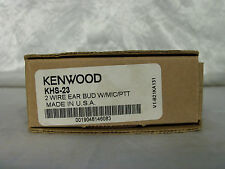 Kenwood *OEM* KHS-23 Two Wire Ear Bud with Mic and PTT TK-3173, TK-2170, TK-2160