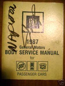1987 Cadillac Buick Oldsmobile Body Service Manual Cars