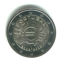 Portugal 2012 - 2 Euro Comm - 10th Anniversary Intro of Euro Coins & Notes (UNC)