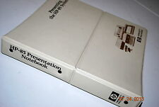 HP-85 Presentation Notebook - Seller and Presenting Guide w/ Graphic Inserts!!