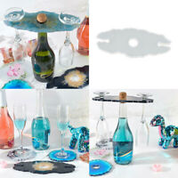 Wine Glass Holder Epoxy Mould Resin Casting Mold Coaster Cup Craft Tool Silicone