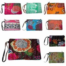 Wholesale Lot Vintage Kantha Clutch Bag Purse bag Pouch bag Handbag Cotton 50PCS