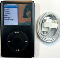 Apple iPod Classic 7th Generation Black 120GB New Battery Refurbished + Warranty