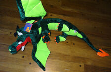 "NWT 40"" Large Green Dragon Plush Stuffed Animal W/ Wings, Mythical Creature"