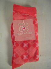 1 pair Simply Sockettes Girls SOCKS  6 - 8 1/2