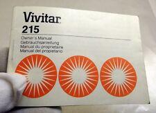 Vivitar 215 Flash Instruction Manual Guide English En Francais Espanol German
