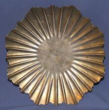New listing Vintage hand made pedestal ornament metal bowl