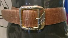 THE RITZ BELT GENUINE BROWN LEATHER VINTAGE 90S HIGH WAISTED CHIC WAIST 27 TO 31