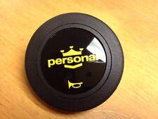 Nardi Personal Horn Button - Double Contact - Yellow Logo