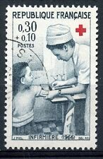 STAMP / TIMBRE FRANCE OBLITERE N° 1509  CROIX ROUGE INFIRMIERE