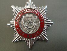 Portsmouth Fire Brigade Fire Brigade cap badge