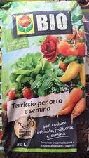 TERRICCIO per ORTO e SEMINA COMPO BIO 80 lt - AGRICOLTURA BIOLOGICA