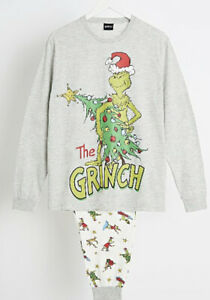 DR SUESS PYJAMAS THE GRINCH XL UNISEX MATCHING CHRISTMAS EVE  Xmas Delivery