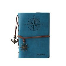 Leather Writing Journal Notebook MALEDEN Classic Spiral Bound Notebook Refill...