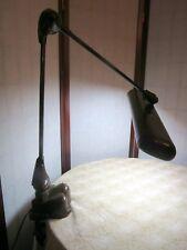 VTG Industrial ART DECO Desk Lamp Art Specialty Co. Flexo Drafting Light Metal