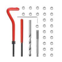 30Pcs Metric Thread Repair Insert Kit M5 M6 M8 Helicoil Car Pro Coil Tool