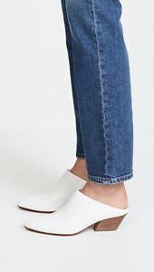NIB Vince Vigo Leather Mules Sandal Slides Optic White $325