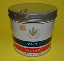 VINTAGE 1960s SWEET CAPORAL CIGARETTE TOBACCO 1/2 LB. TIN CAN SIGN ( NEAR MINT )